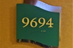 NAVIGATOR OF THE SEAS - Kabine 9694 -  Schild mit Kabinennummer