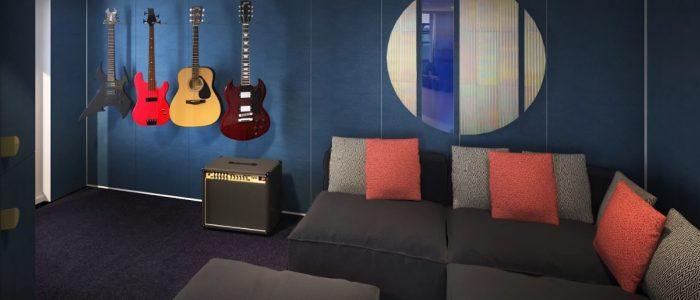 Scarlet Lady - Rock Star Suite - Massive Suite Music Room